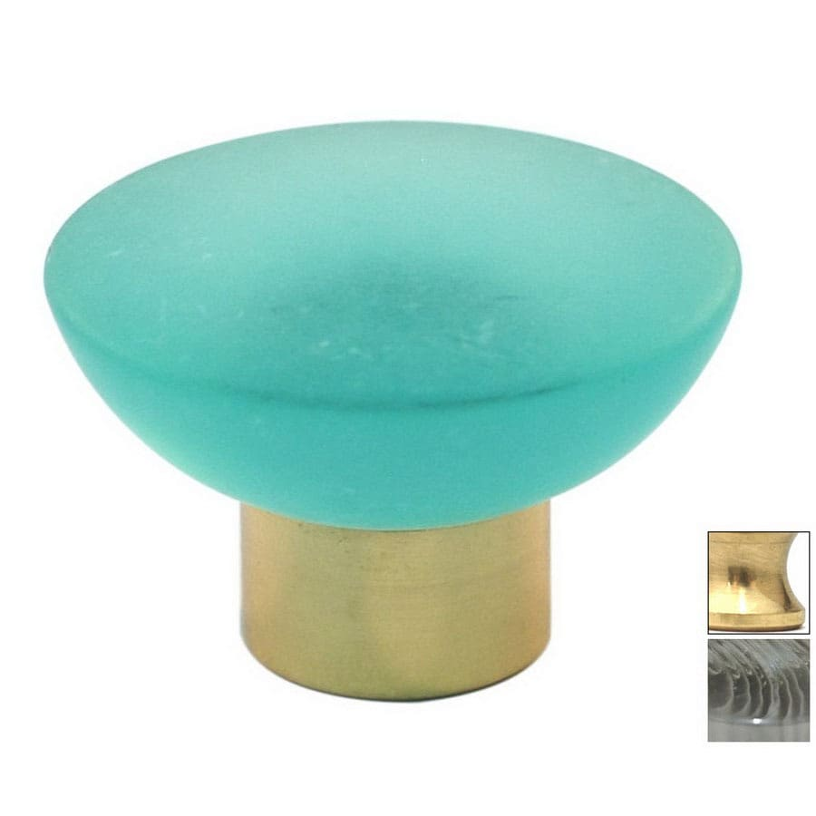 Cal Crystal Polished Brass Athens Round Cabinet Knob