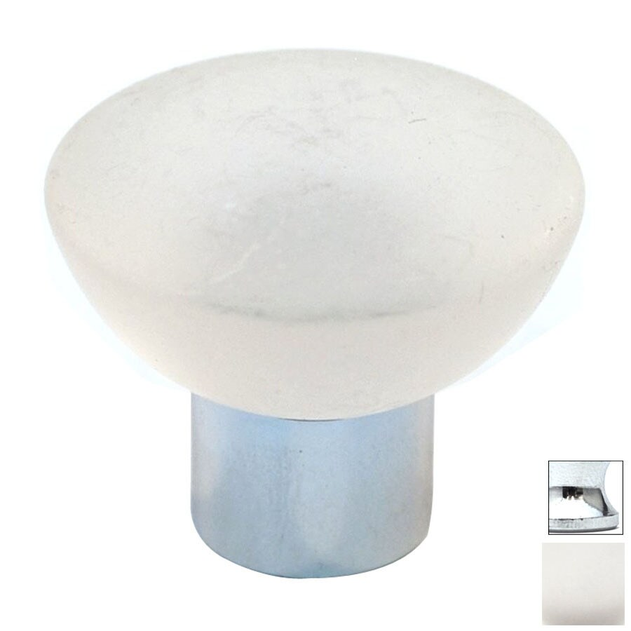 Cal Crystal Polished Chrome Athens Round Cabinet Knob