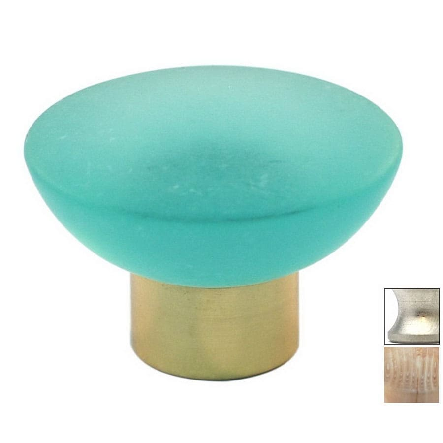 Cal Crystal Satin Nickel Athens Round Cabinet Knob