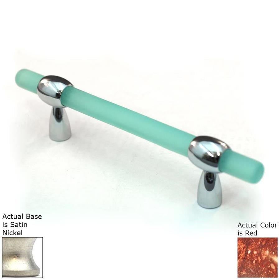 Cal Crystal 3-4-in Adjustable Center-to-Center Satin Nickel Athens Bar Cabinet Pull