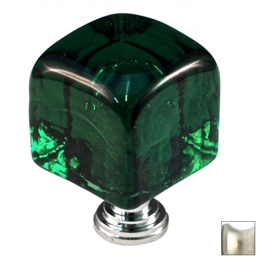 Cal Crystal Satin Nickel Artx Square Cabinet Knob
