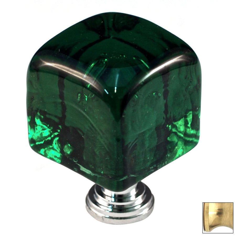 Cal Crystal Polished Brass Artx Square Cabinet Knob