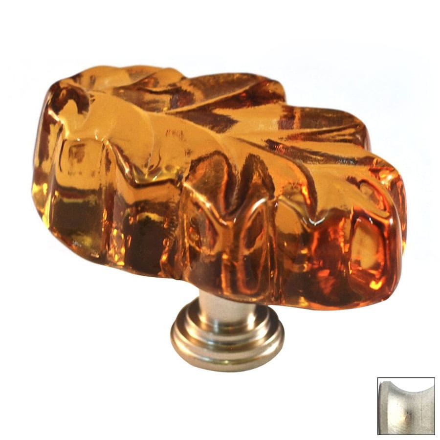 Cal Crystal Satin Nickel Artx Novelty Cabinet Knob