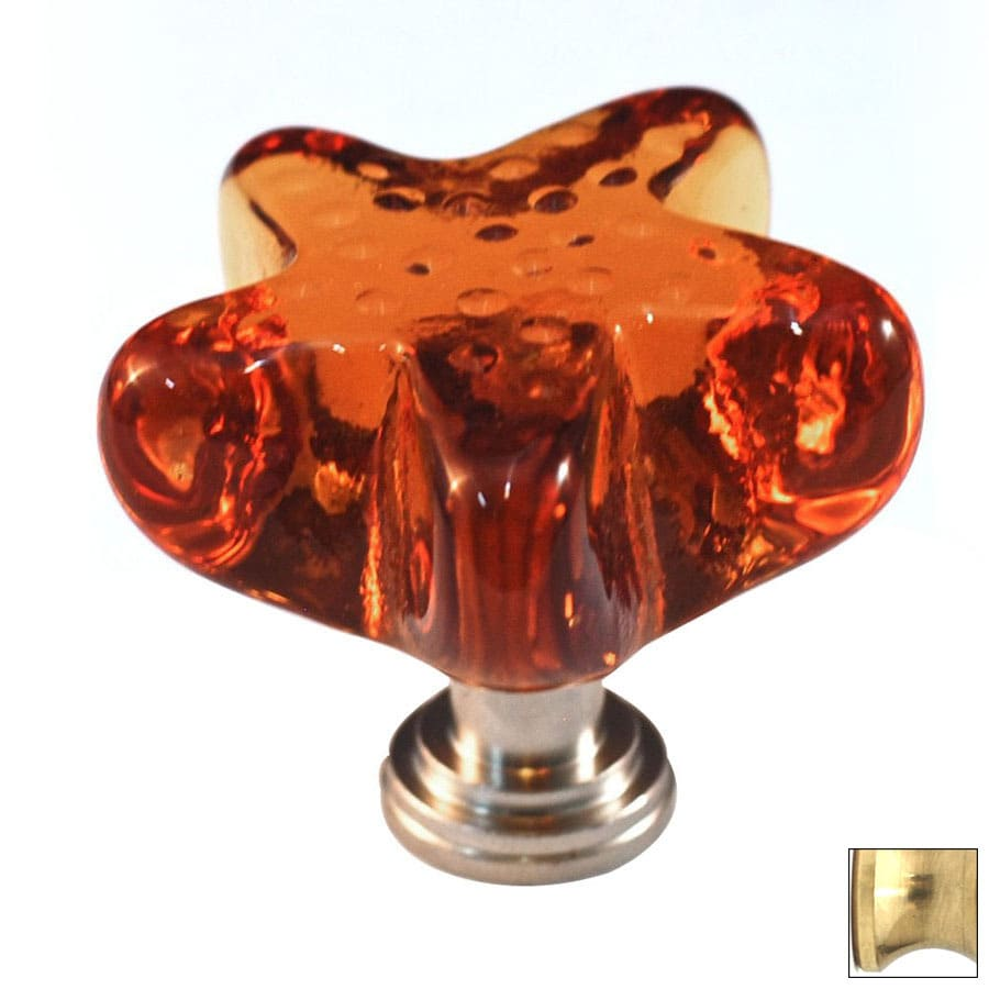 Cal Crystal Polished Brass Artx Novelty Cabinet Knob
