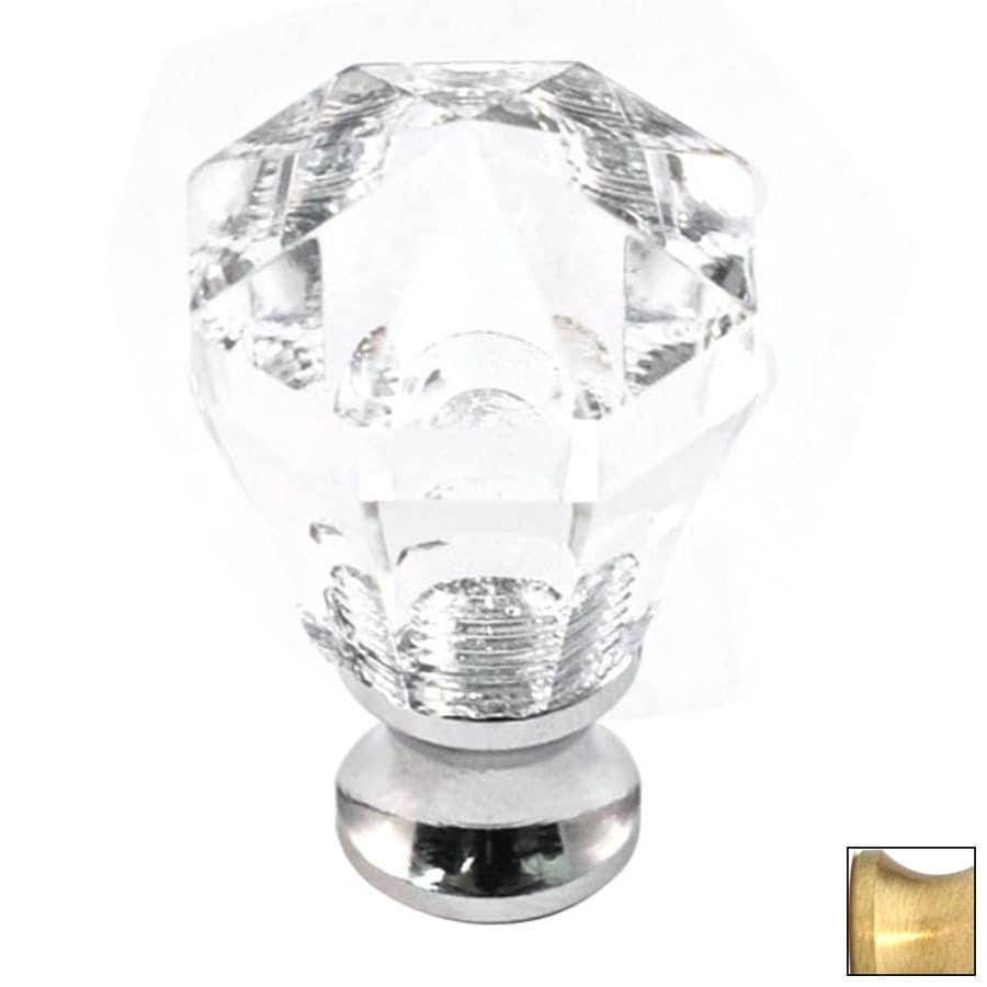 Cal Crystal Satin Brass Crystal Octangular Cabinet Knob