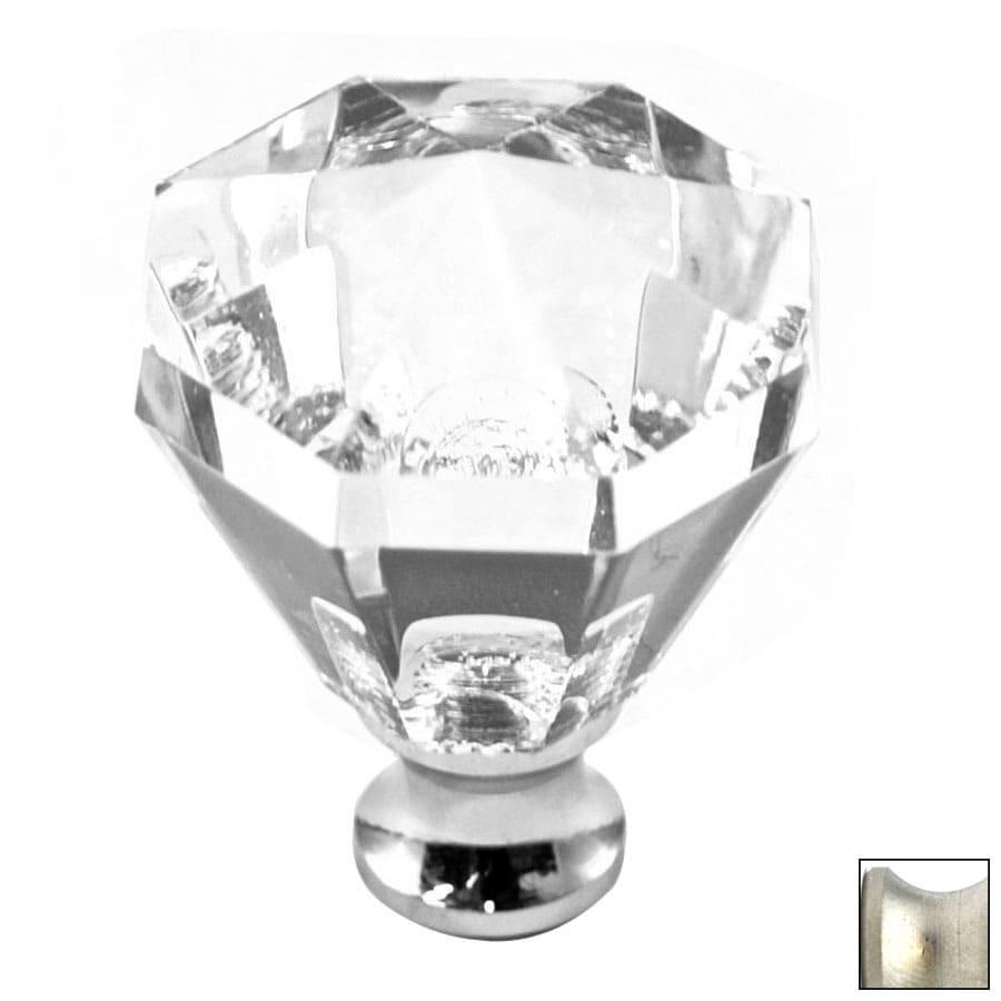 Cal Crystal Satin Nickel Crystal Octangular Cabinet Knob