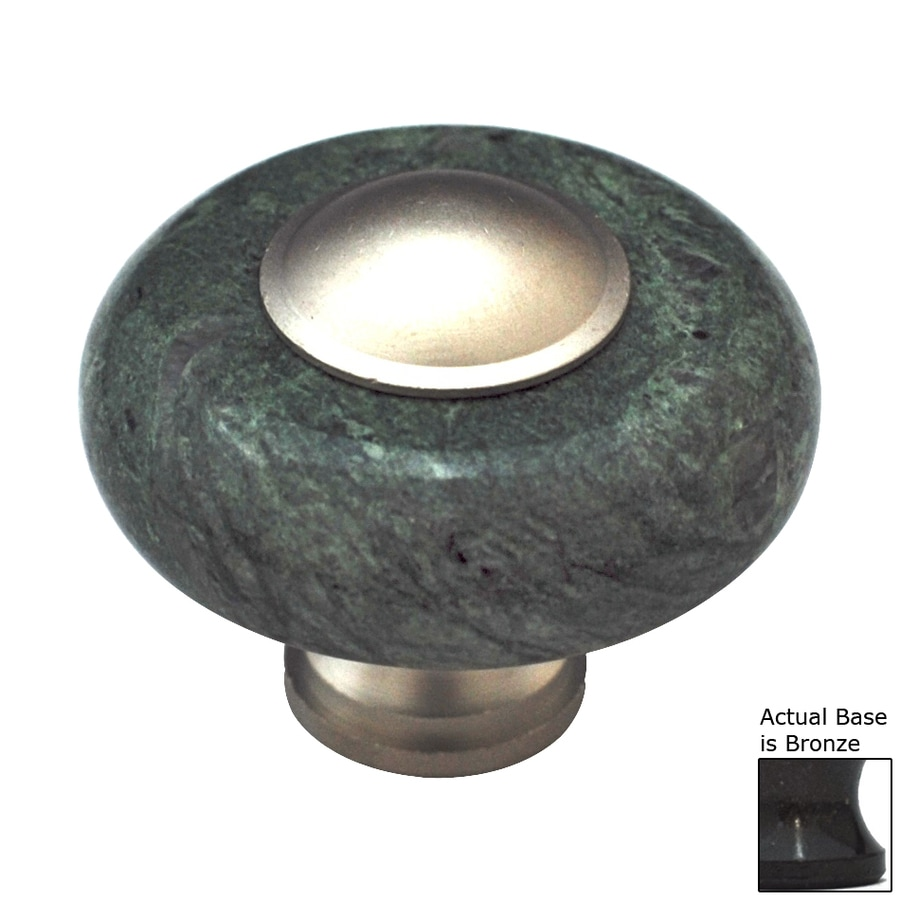 Cal Crystal Green Marble Bronze Round Cabinet Knob
