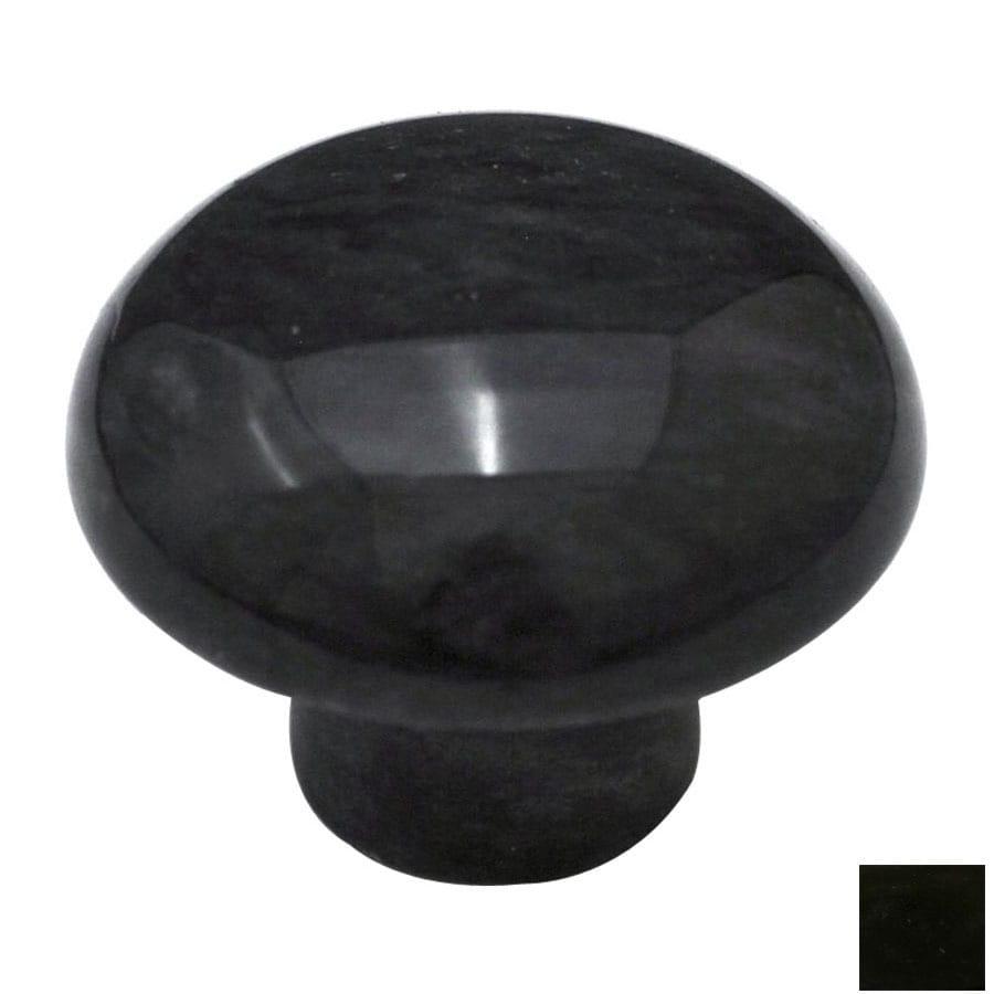 Cal Crystal Black Marble Mushroom Cabinet Knob