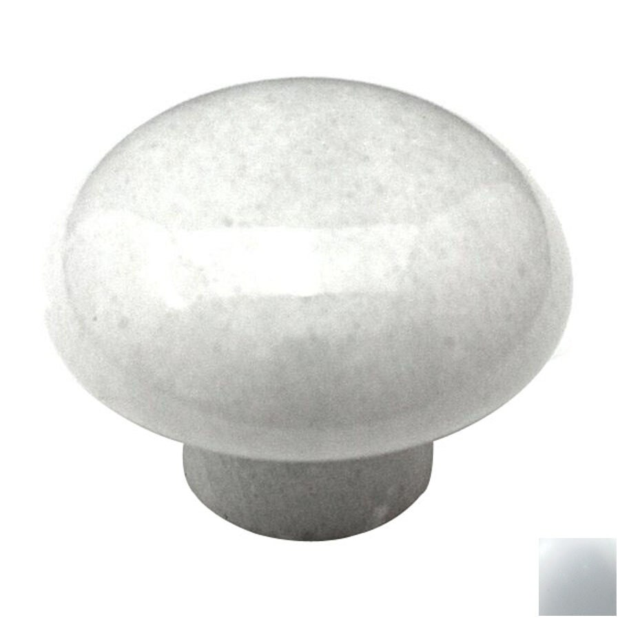 Shop Cal Crystal Marble White Mushroom Cabinet Knob At
