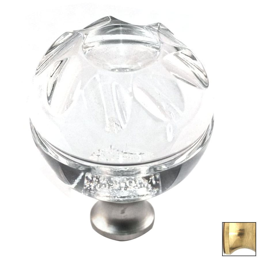 Cal Crystal Polished Brass Crystal Globe Cabinet Knob
