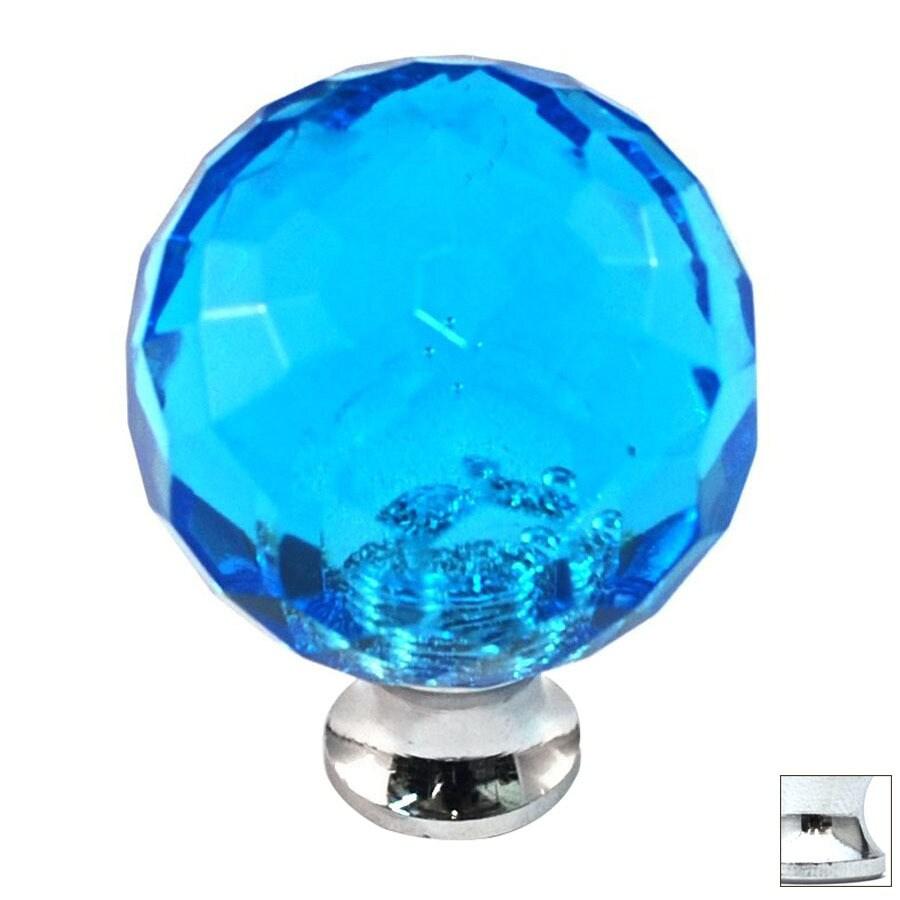 Cal Crystal Polished Chrome Crystal Globe Cabinet Knob