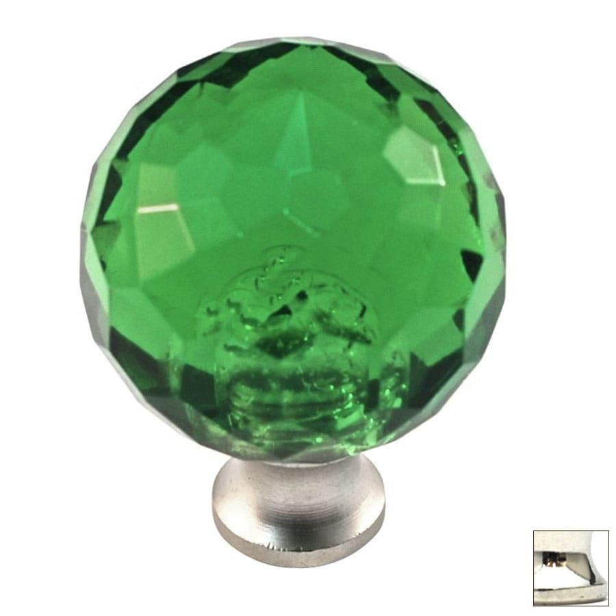 Cal Crystal Polished Nickel Crystal Globe Cabinet Knob