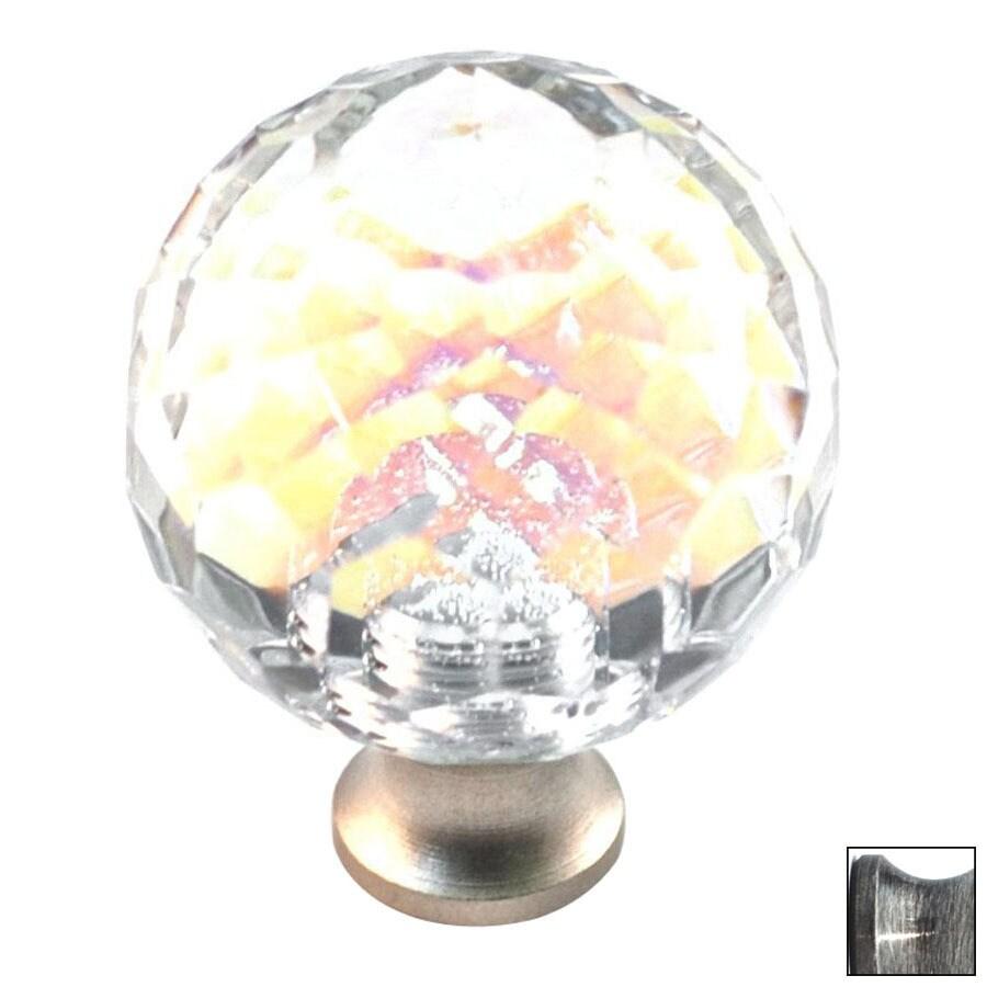 Cal Crystal Pewter Crystal Globe Cabinet Knob