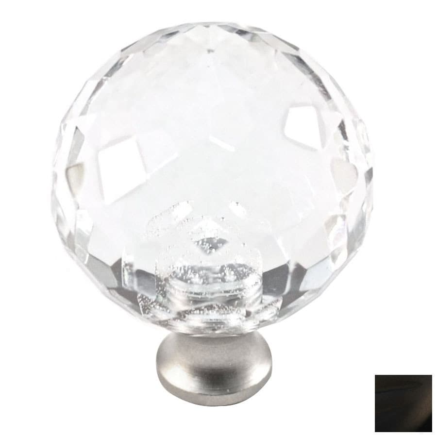 Cal Crystal Oil-Rubbed Bronze Crystal Globe Cabinet Knob