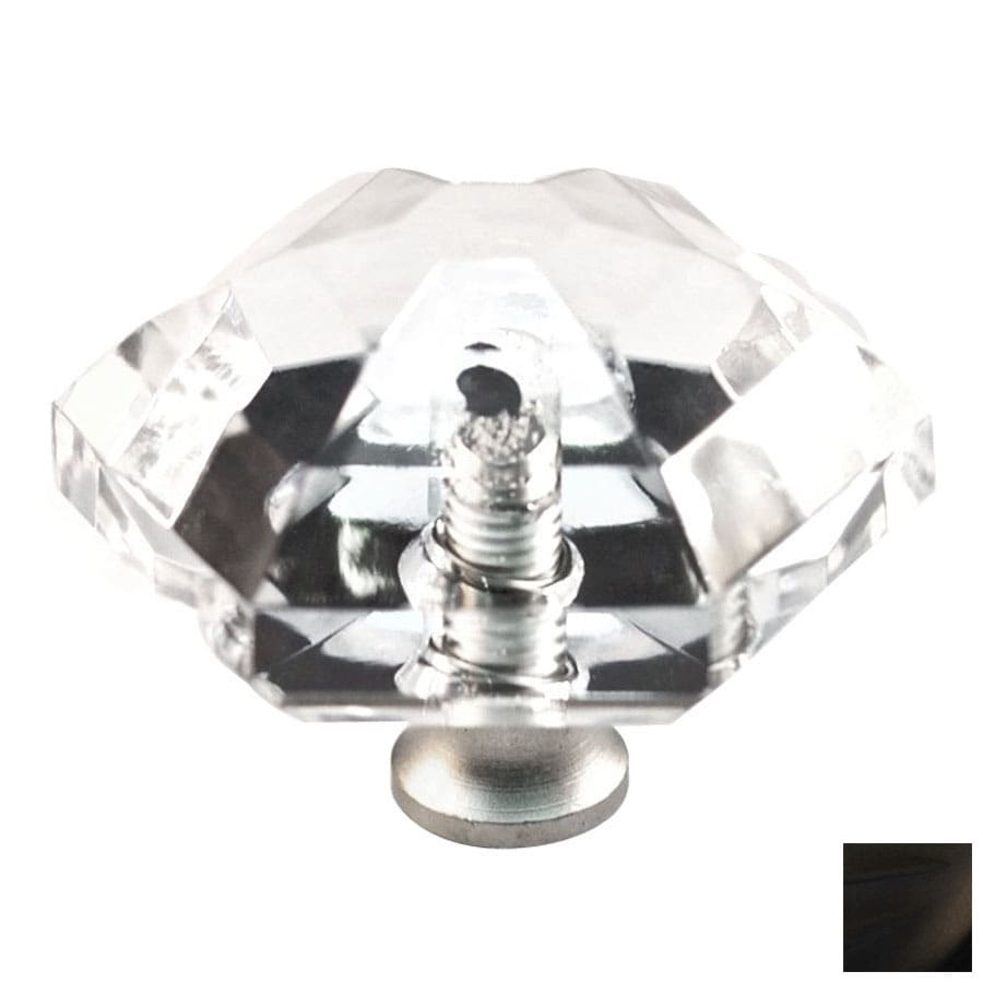 Cal Crystal Oil-Rubbed Bronze Crystal Cabinet Knob