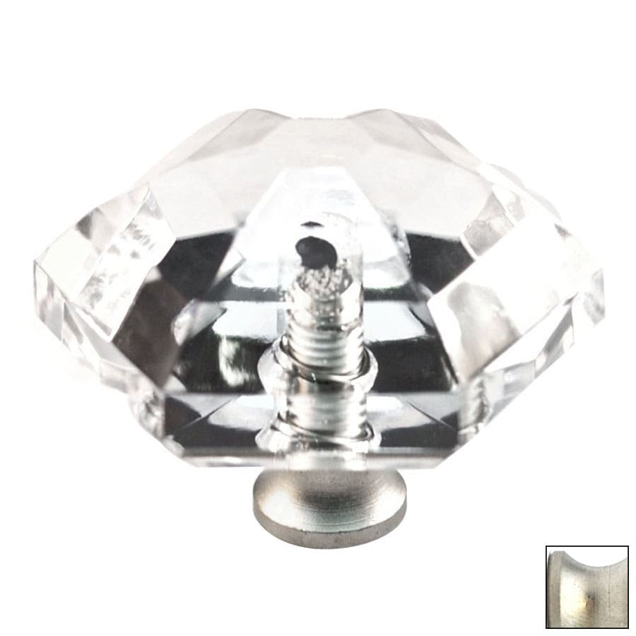 Cal Crystal Satin Nickel Crystal Cabinet Knob
