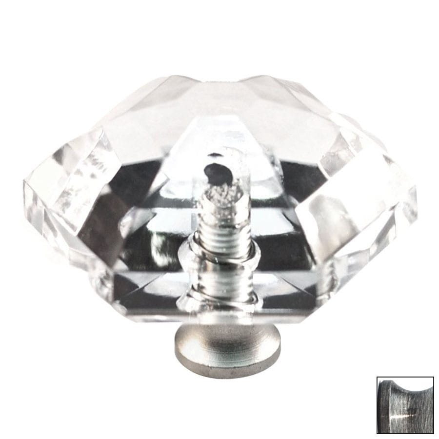 Cal Crystal Pewter Crystal Cabinet Knob