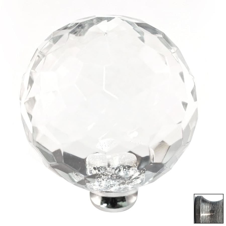 Cal Crystal Pewter Crystal Globe Cabinet Knob