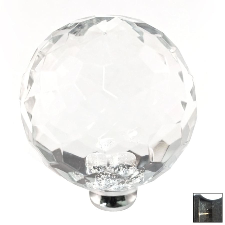 Cal Crystal Antique Brass Crystal Globe Cabinet Knob