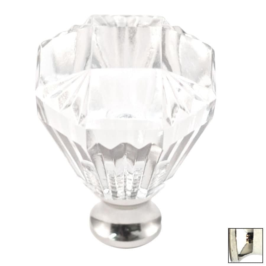 Cal Crystal Polished Nickel Crystal Octangular Cabinet Knob