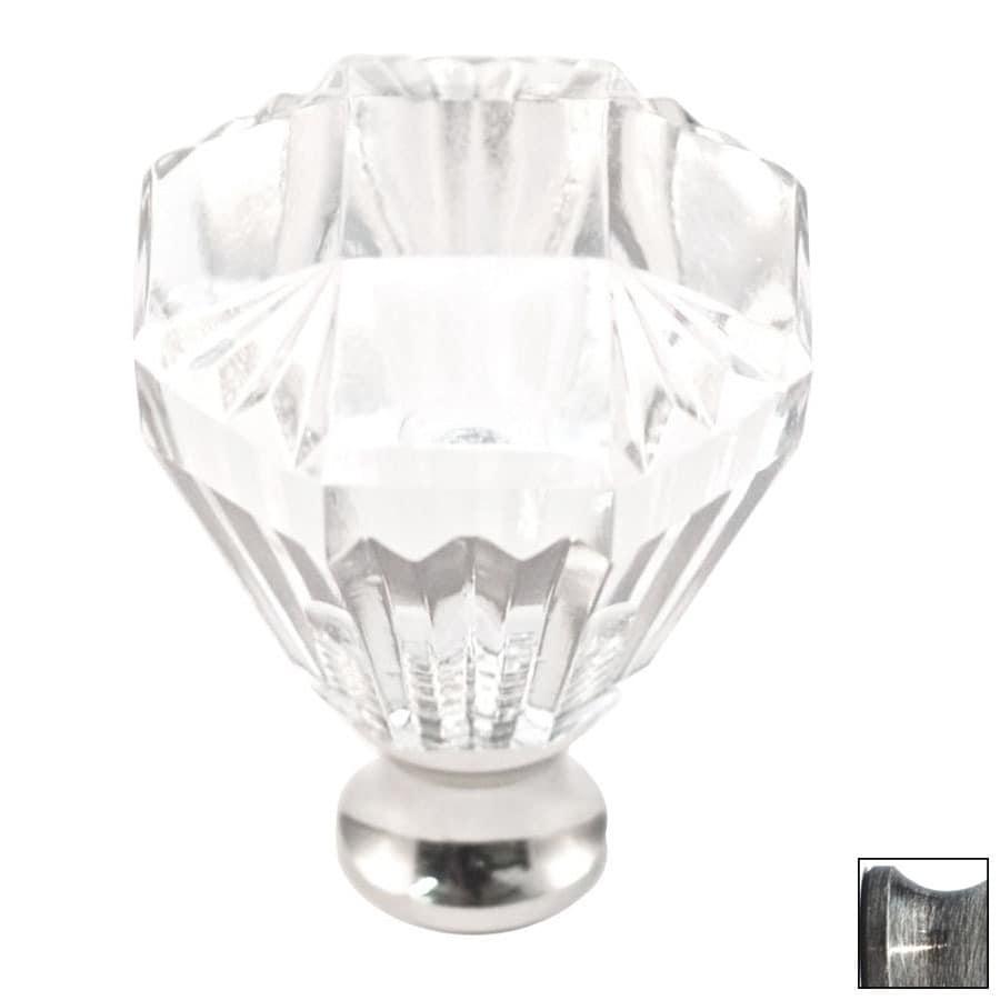Cal Crystal Pewter Crystal Octangular Cabinet Knob