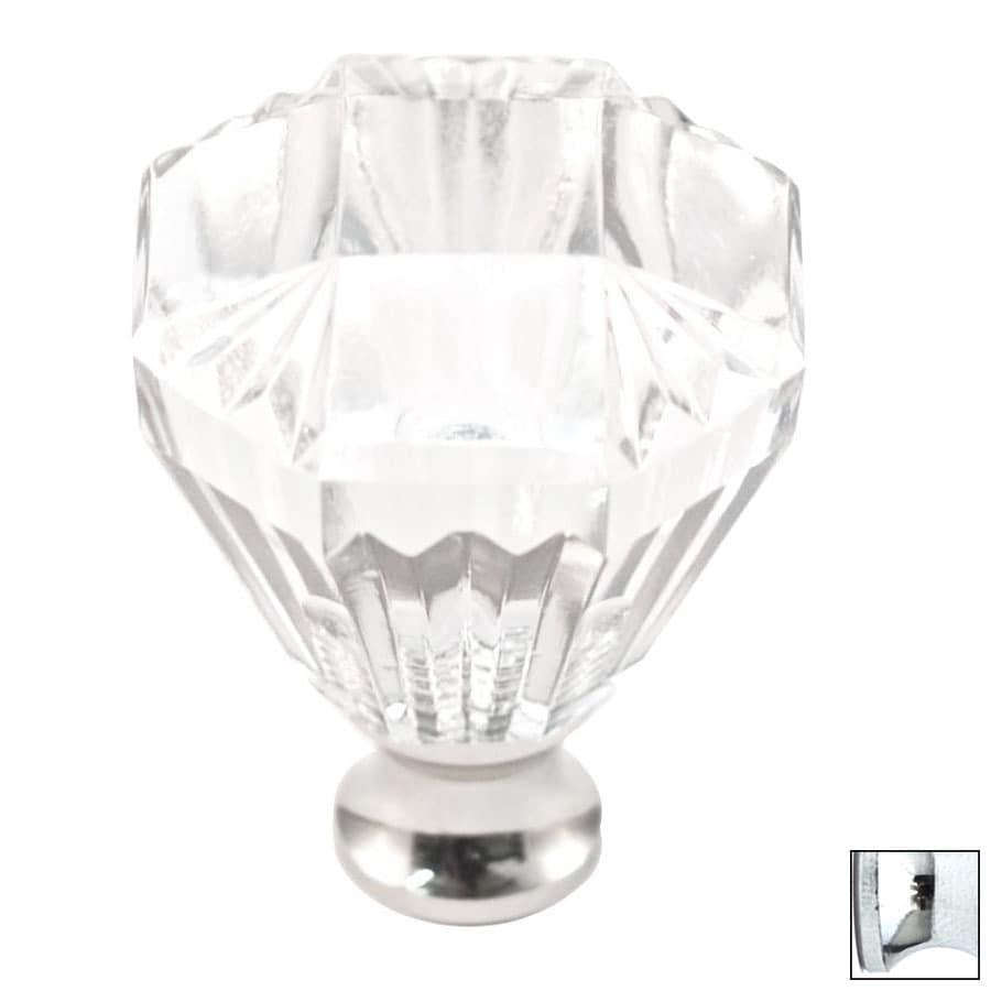 Cal Crystal Polished Chrome Crystal Octangular Cabinet Knob
