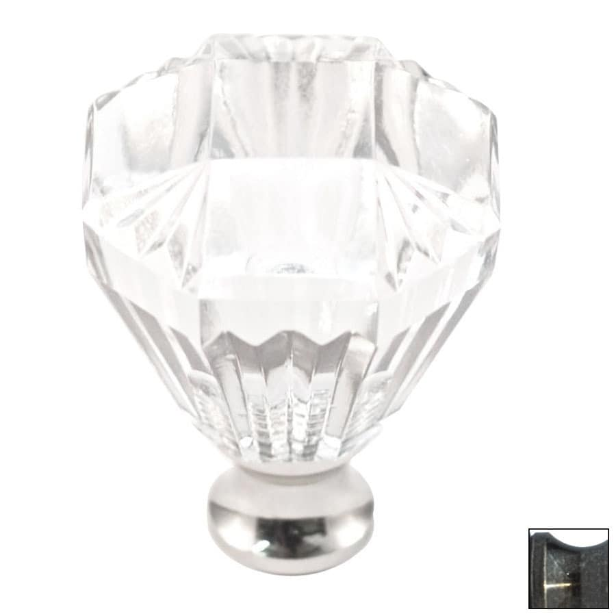 Cal Crystal Antique Brass Crystal Octangular Cabinet Knob