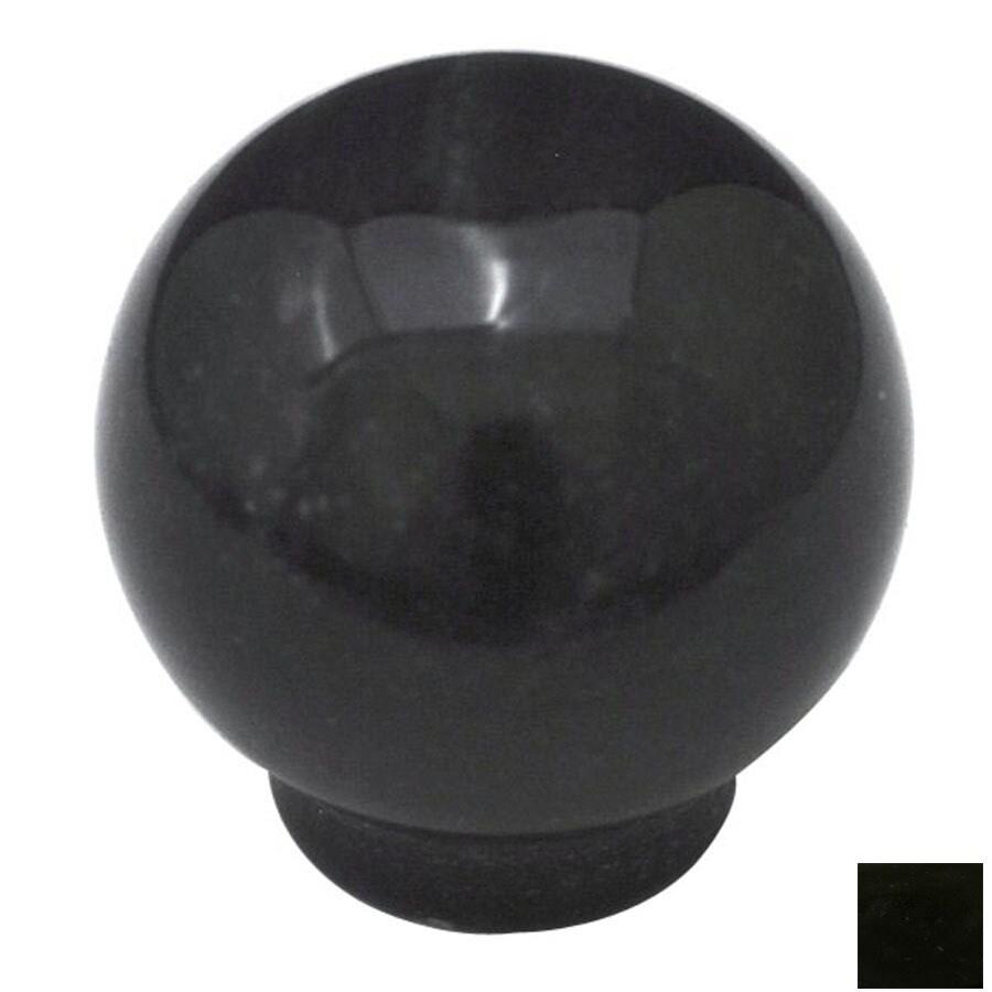 Cal Crystal Marble Black Globe Cabinet Knob