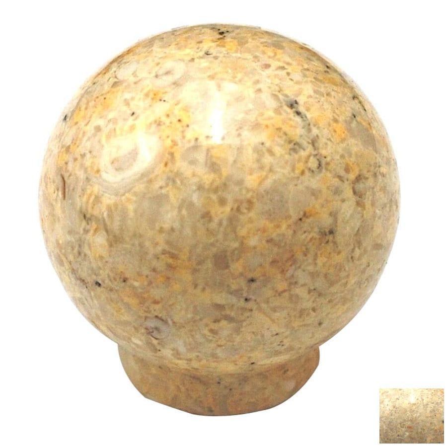 Cal Crystal Beige Marble Globe Cabinet Knob