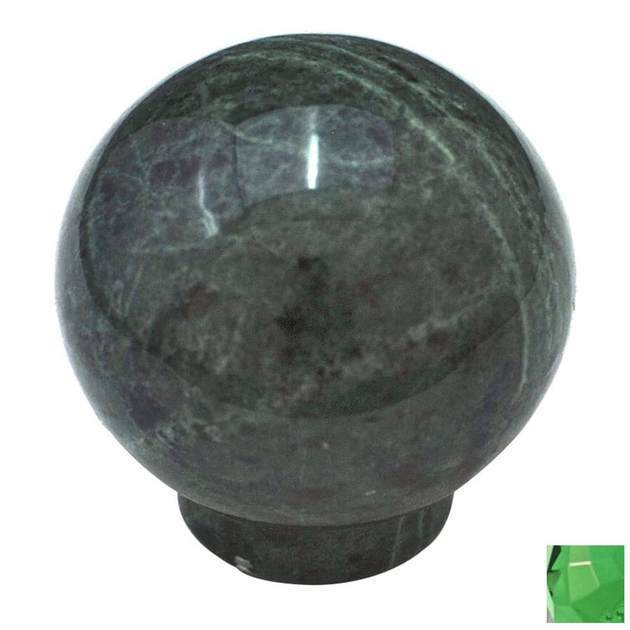 Cal Crystal Green Marble Globe Cabinet Knob