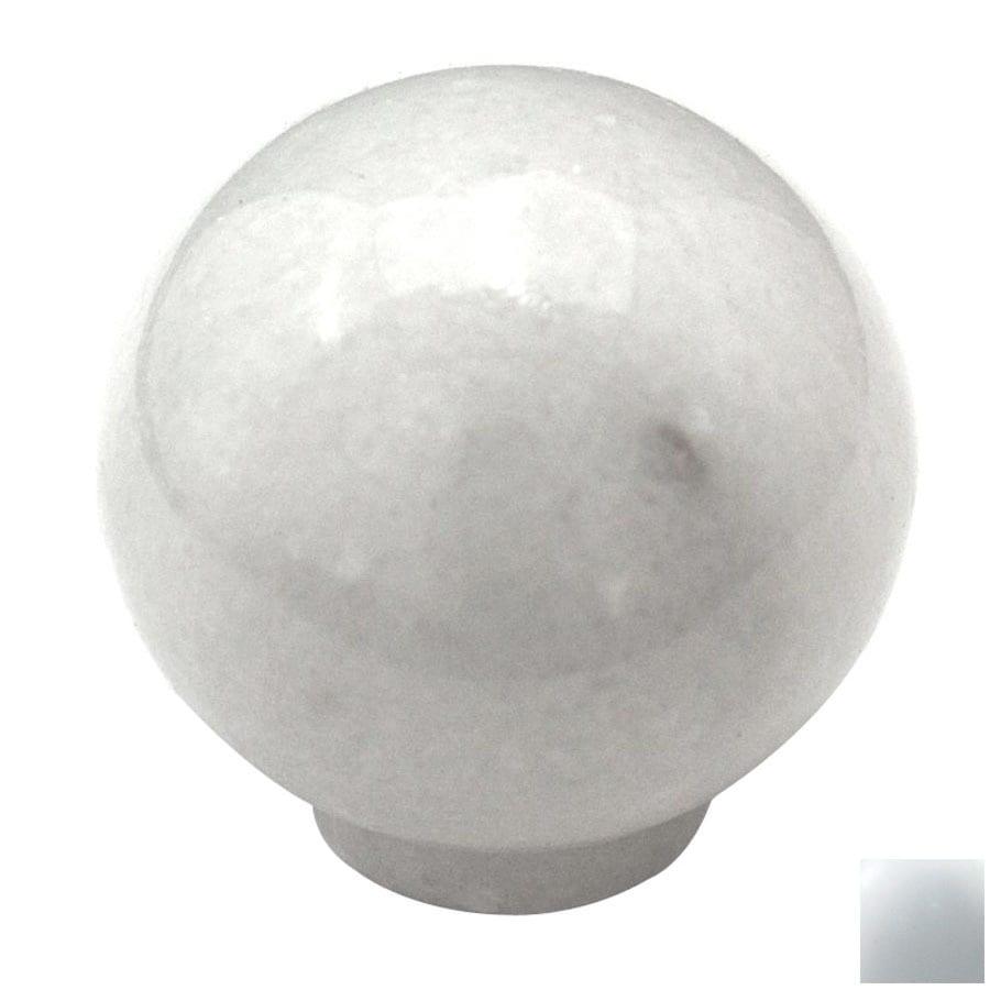 Cal Crystal Marble White Globe Cabinet Knob