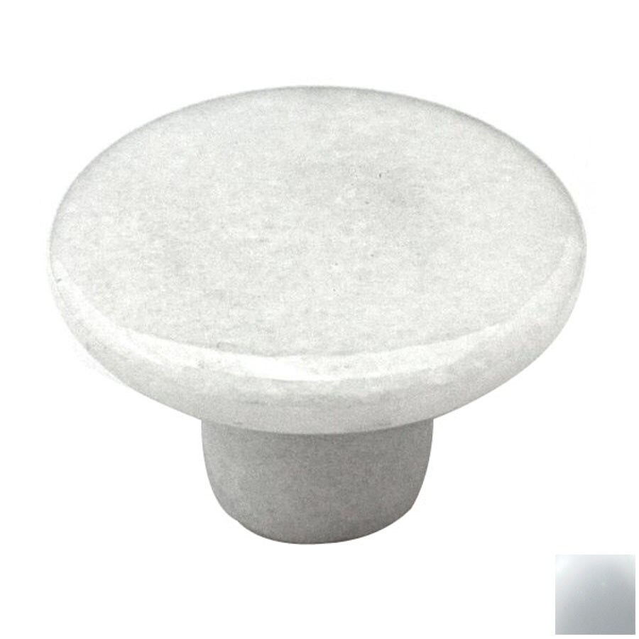 shop cal crystal white marble round cabinet knob at