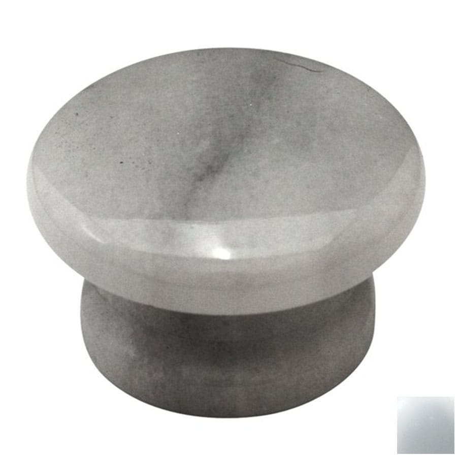 Cal Crystal White Marble Round Cabinet Knob