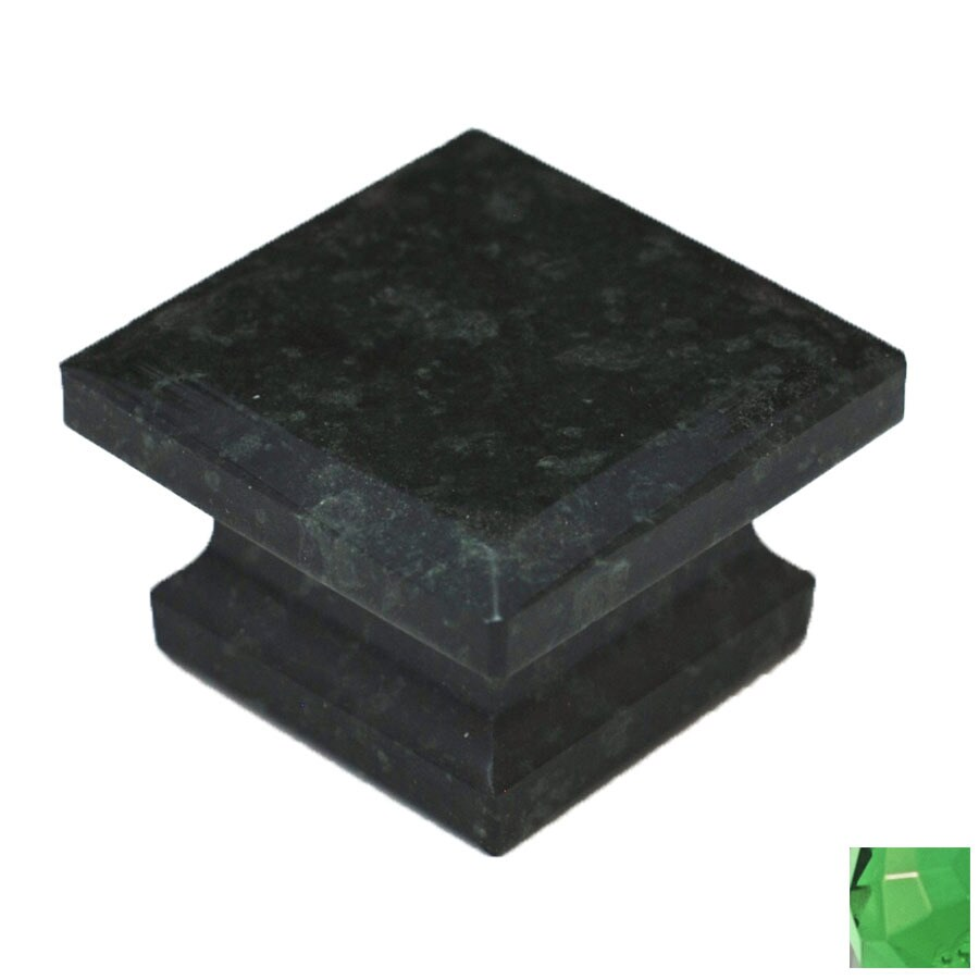 Cal Crystal Green Marble Square Cabinet Knob