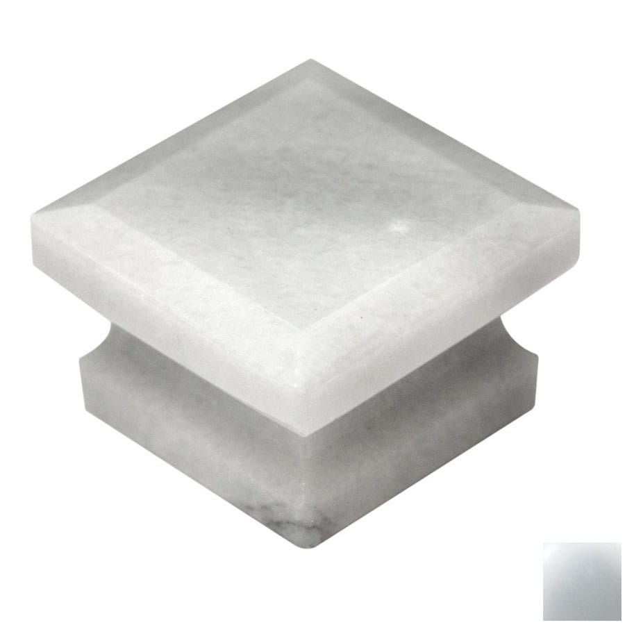 Cal Crystal Marble White Square Cabinet Knob
