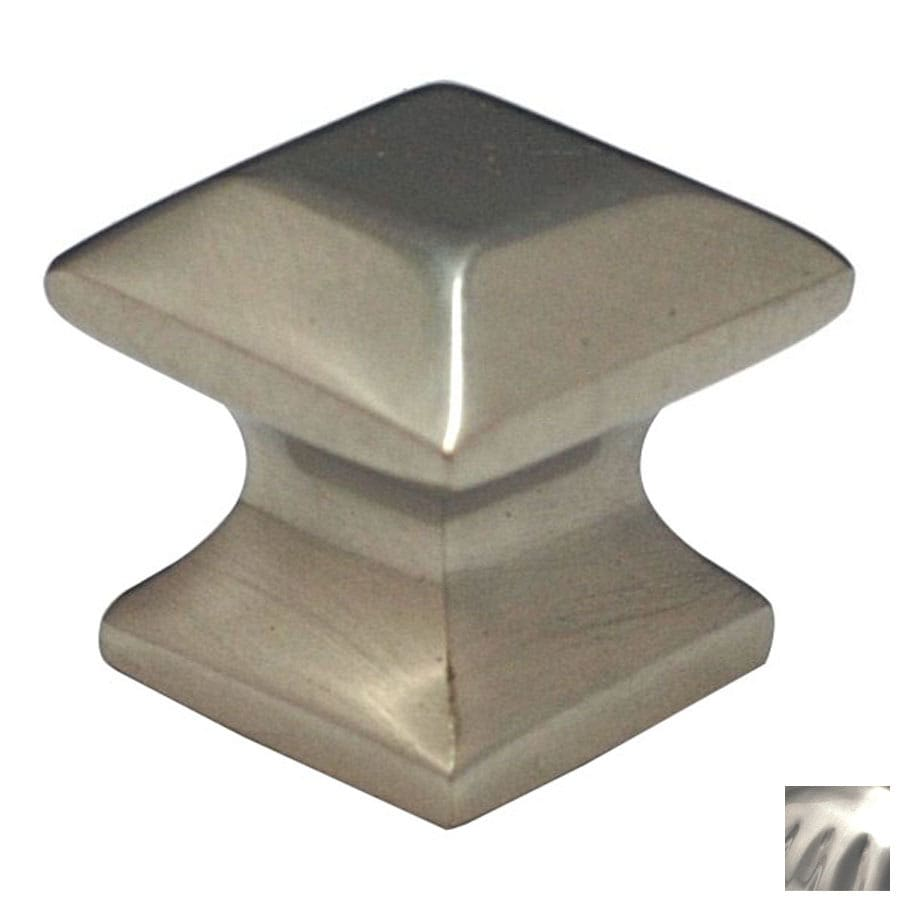 Cal Crystal Satin Nickel Vintage Square Cabinet Knob