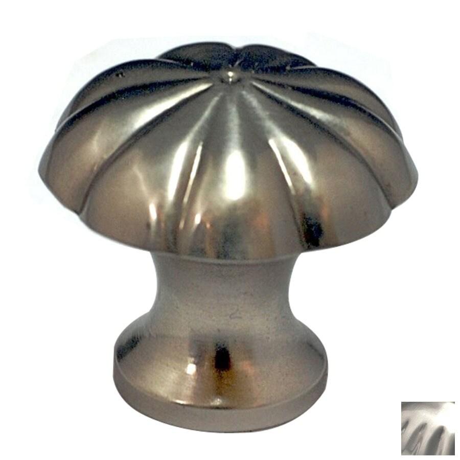Cal Crystal Satin Nickel Vintage Mushroom Cabinet Knob