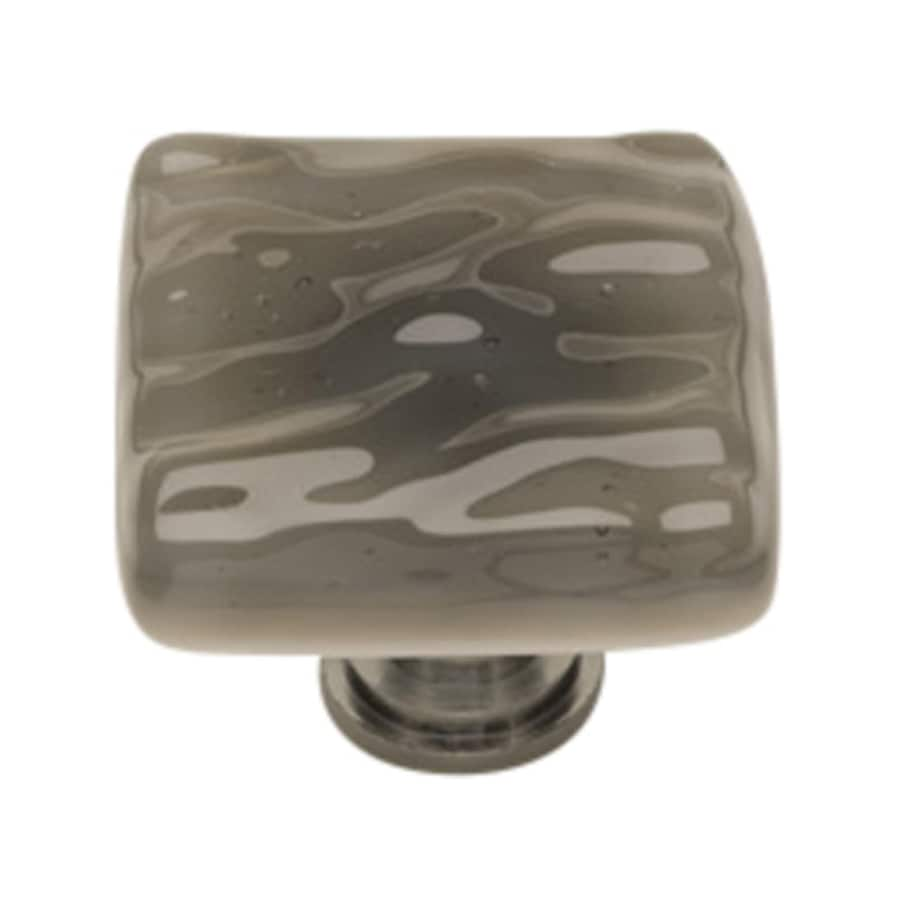 Sietto Glacier Silver Gray/Satin Nickel Square Cabinet Knob