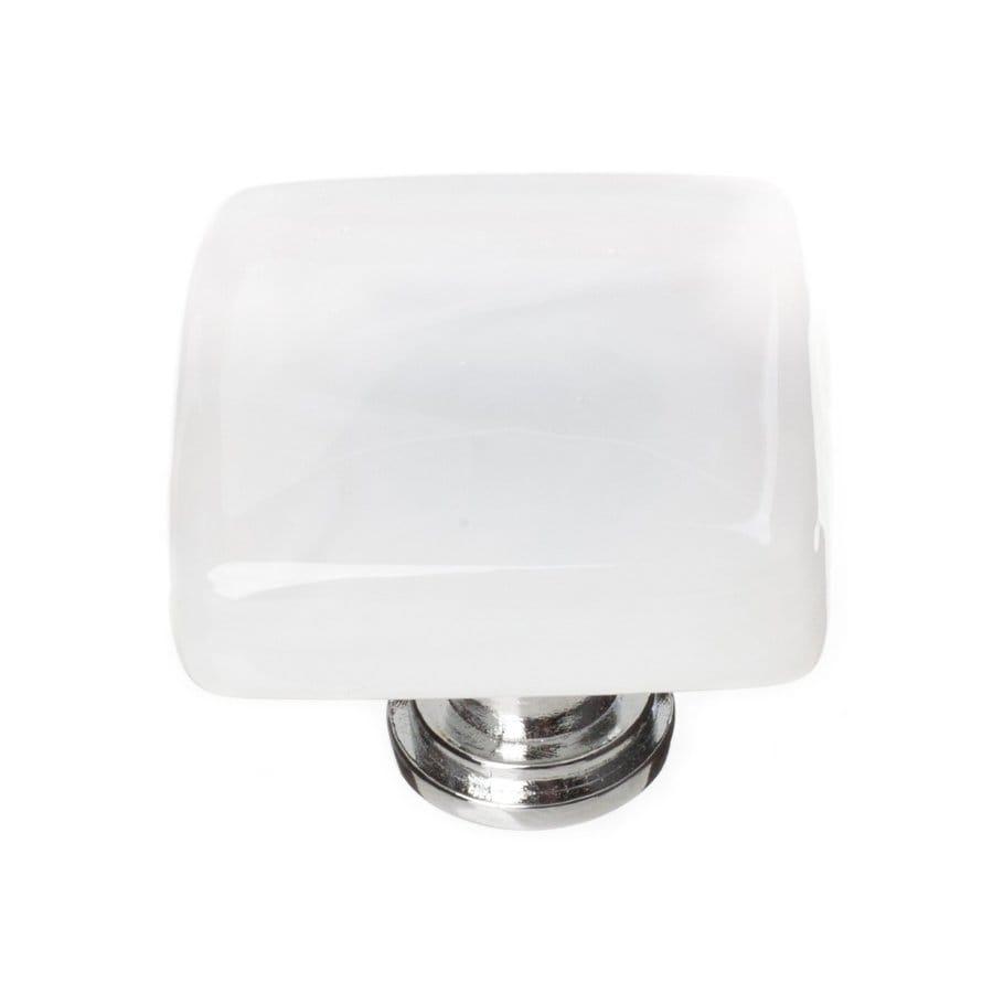 Sietto 1-1/4-in Polished Chrome Cirrus Square Cabinet Knob
