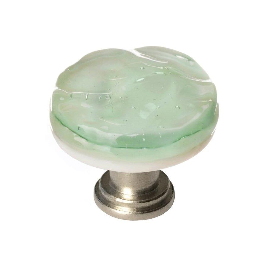 Sietto 1-1/4-in Satin Nickel Glacier Round Cabinet Knob