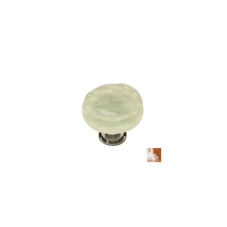 Sietto 1-1/4-in Satin Nickel Glacier Round Cabinet Knob