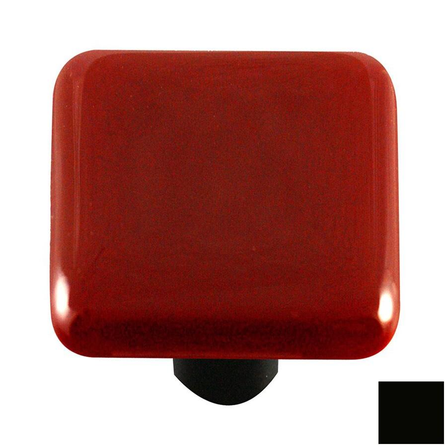 Hot Knobs Solid Black Square Cabinet Knob