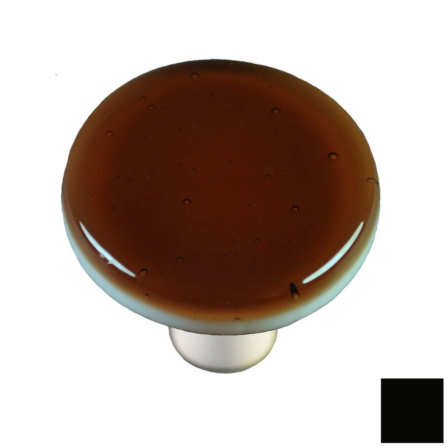 Hot Knobs Solid Black Round Cabinet Knob