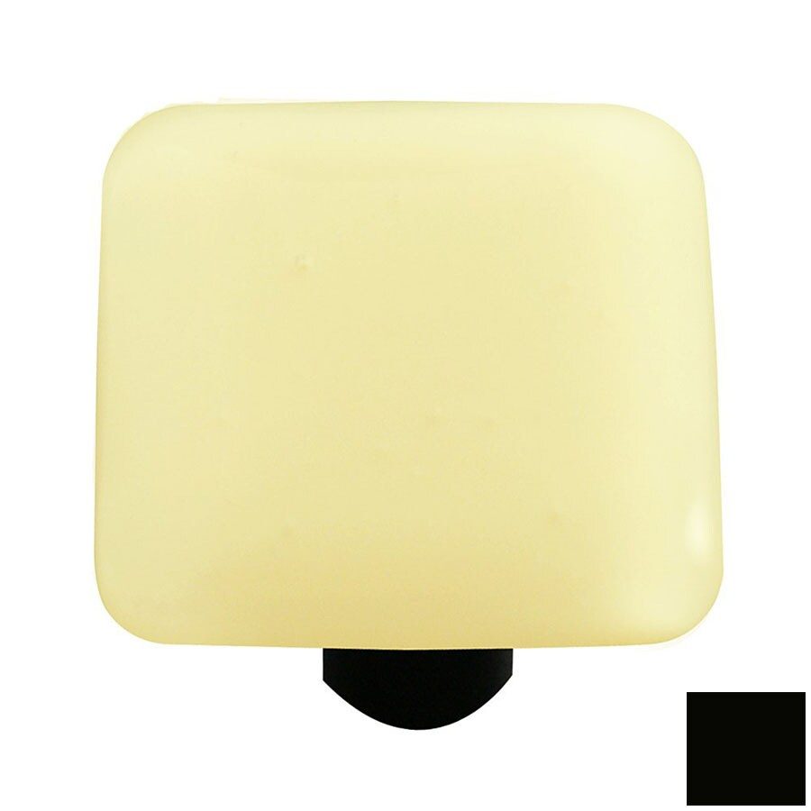 Hot Knobs Solid Black Square Cabinet Knob