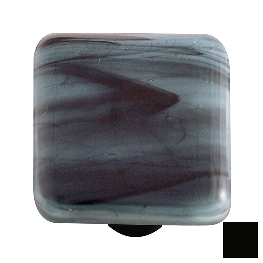 Hot Knobs Swirl Black Square Cabinet Knob