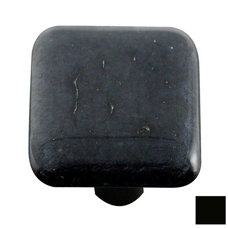 Hot Knobs Metallic Black Square Cabinet Knob