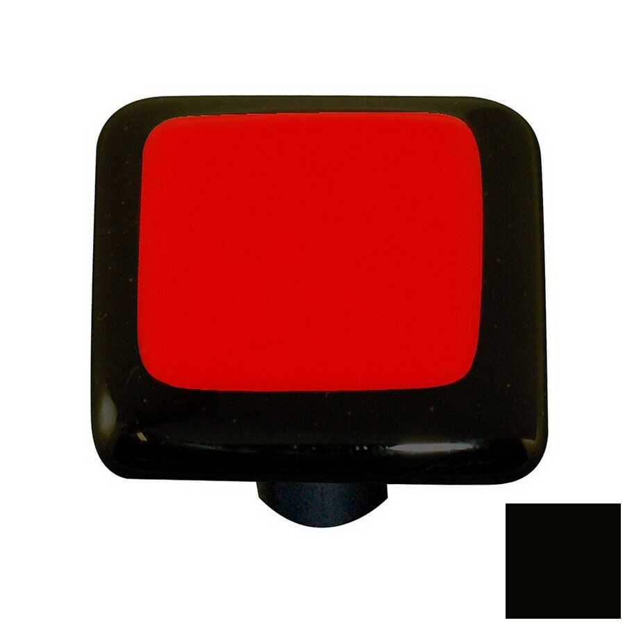 Hot Knobs Border Black Square Cabinet Knob