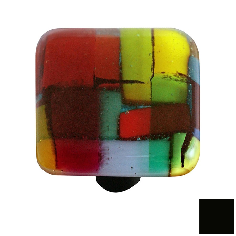 Hot Knobs Mosaic Black Square Cabinet Knob