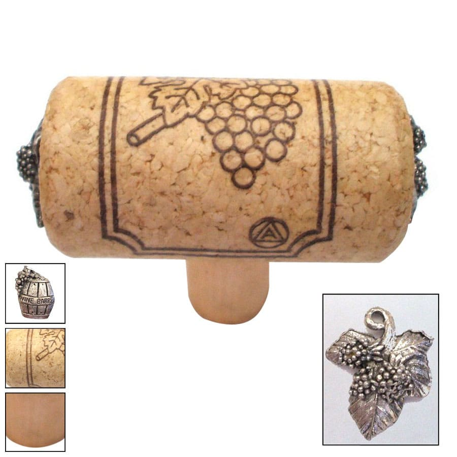 Vine Designs 2-1/8-in Natural Vineyard Novelty Cabinet Knob