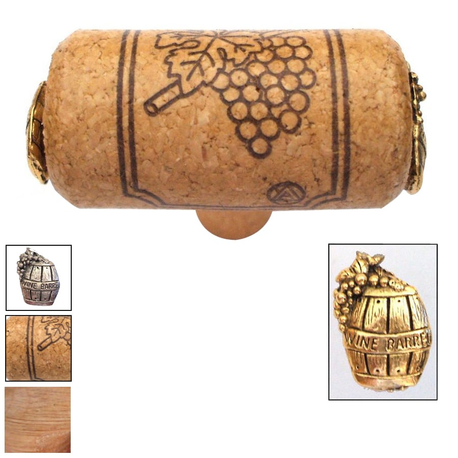 Vine Designs Vineyard Oak Novelty Cabinet Knob